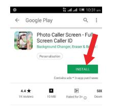 photo caller screen