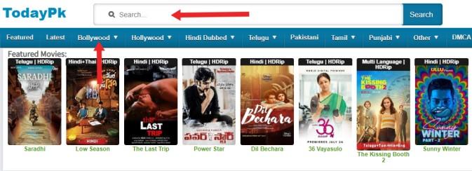 Todaypk - Download HD Telugu, Tamil, Bollywood, Hindi Movies